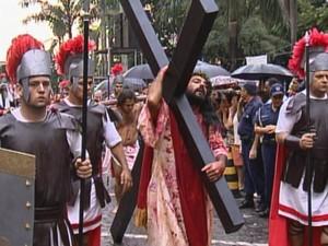 Caminhada do Calvário será realizada no complexo Morro de São Bento (Foto: Reprodução/EPTV)