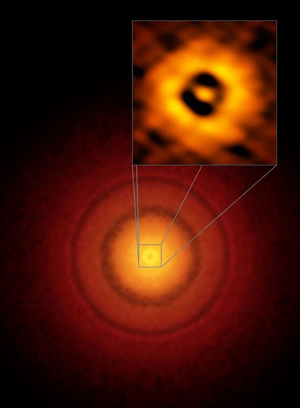 Telescópio capta imagem de 'versão infantil' da Terra (Foto: European Southern Observatory/AFP)