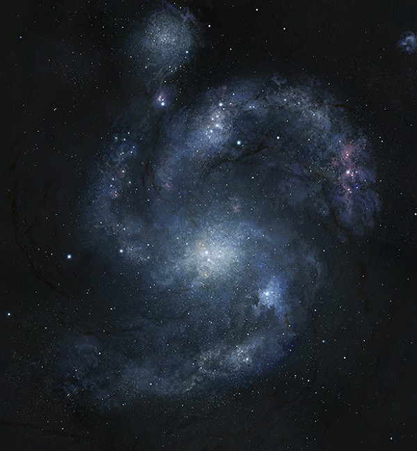 Galáxia espiral Nature (Foto: Joe Bergeron/Dunlap Institute for Astronomy & Astrophysics)