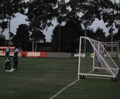 Goleiros Palmeiras basquete (Foto: Fabricio Crepaldi)