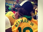 Rafaella Santos homenageia Neymar antes de jogo do Brasil: 'Te amo'