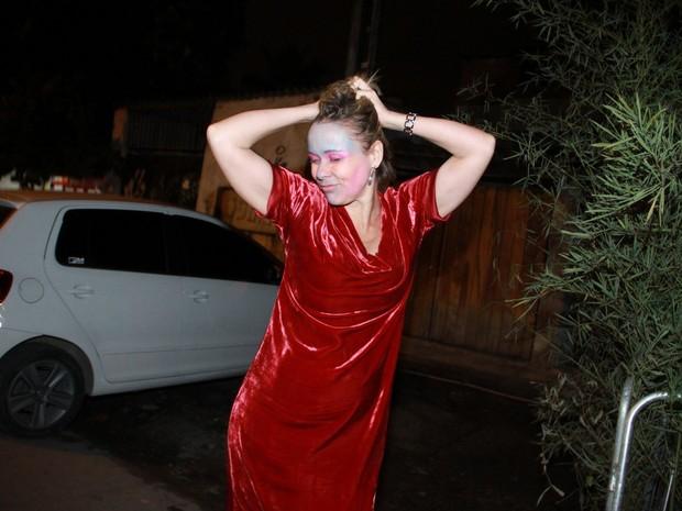 Giulia Gan  em festa de Halloween no Rio (Foto: Thyago Andrade/ Foto Rio News)