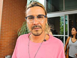 Ator André Gonçalves era um dos passageiros no avião  (Foto: Ísis Capistrano/ G1 AM)