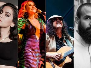 Entre atrações da pipoca estão Anitta, Daniela Mercury, BaianaSystem e Moraes Moreira (Foto: Arte / G1)
