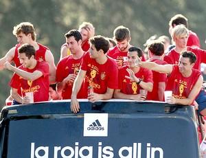 comemoração Espanha Madrid Euro (Foto: EFE)