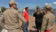Representantes do Ministério da Integração verificam situação do cais em Santarém