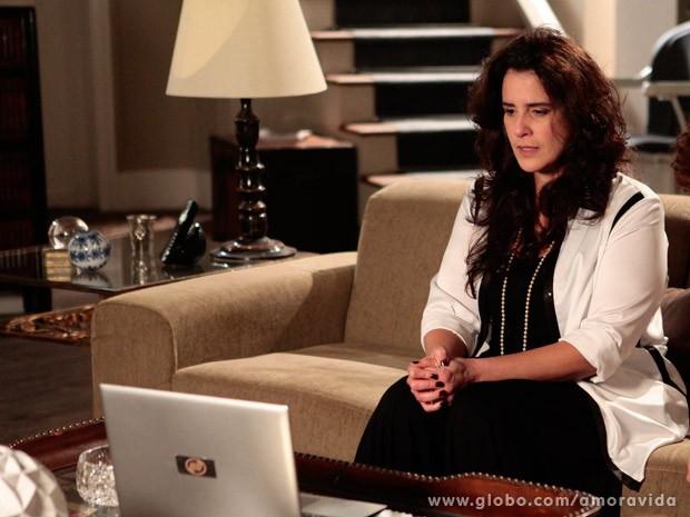 Mariah grava video para Paloma (Foto: Ellen Soares/ TV Globo)