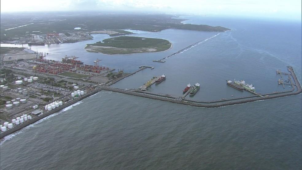 Delatores relataram irregularidades na construção do Cais 5 e do Píer Petroleiro no Porto de Suape (Foto: Reprodução/TV Globo)
