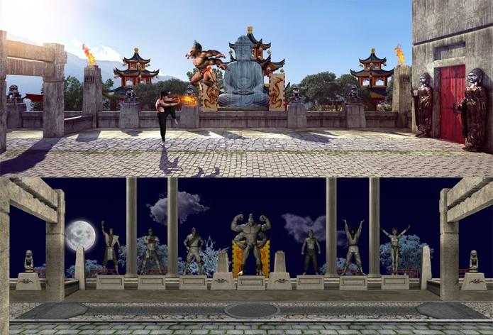 Confira uma visão completa dos cenários Palace Gate e Warriors Shrine (Foto: Reprodução/DSO Gaming)