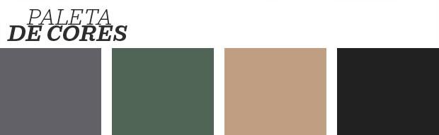 Décor do dia: sala de estar cinza com detalhes verdes (Foto: reprodução)