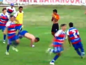 Fortaleza comemora gol contra Estação Campeonato Cearense Sub-15 final (Foto: Reprodução/FCF TV)
