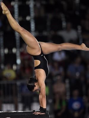 Ingrid de Oliveira terminou a fase classificatória em sétimo (Foto: Timothy A. Clary/AFP/Getty Images)