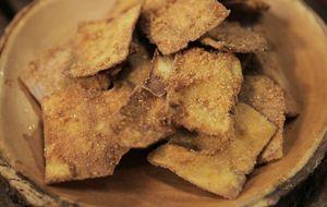 Bife de mandioca empanado