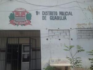 1° Distrito Policial de Guarujá, SP (Foto: Anna Gabriela Ribeiro / G1)