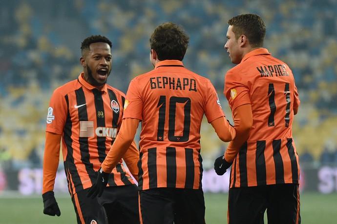 Shakhtar Donetsk Dínamo de Kiev gol Fred (Foto: Divulgação/Shakhtar Donetsk)