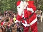 Papai Noel reúne centenas de crianças no Parque da Cidade em Santarém