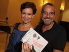 Júlia Lemmertz vai com o marido, Alexandre Borges, ao teatro