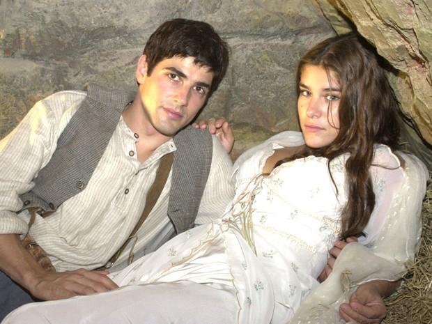 Reynaldo Gianecchini era Toni, o grande amor de Maria (Fantin) na novela Esperança  (Foto:  TV Globo/João Miguel Júnior)