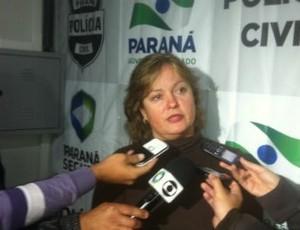 Delegada Marcia Rejane Vieira, da Delegacia da Mulher de Curitiba (Foto: Bibiana Dionísio/ G1 PR)