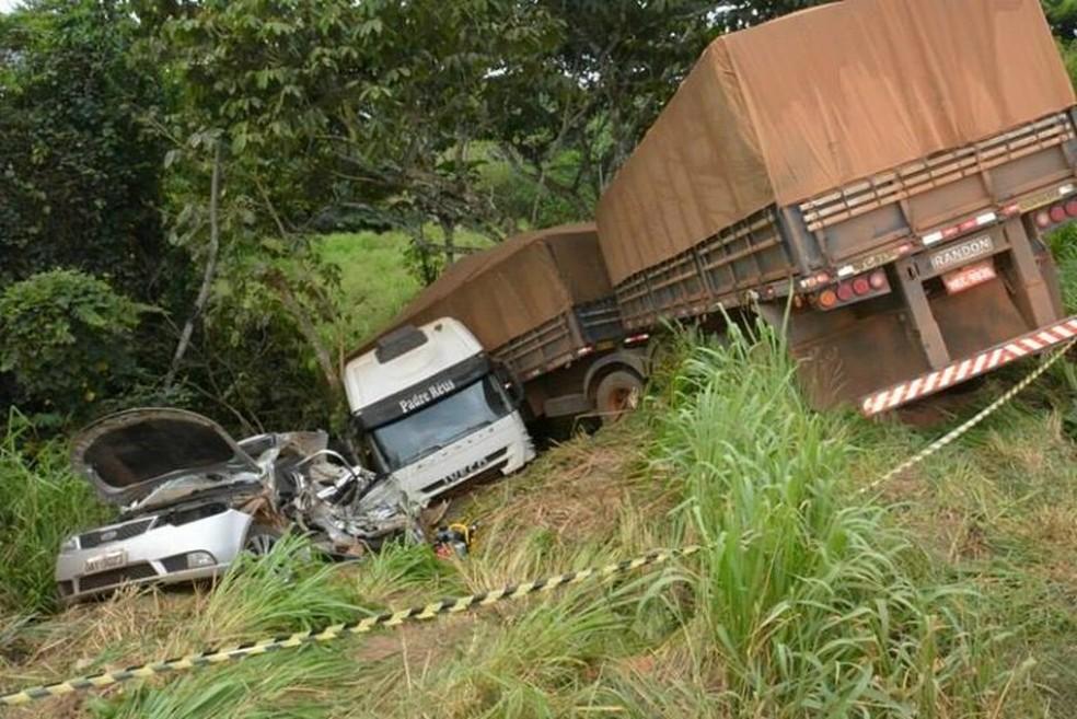 Colisão ocorreu nesta segunda-feira em Jaru (Foto: A Notícia Mais/Reprodução)