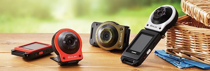 Action Cam, Exilim, da Casio tem um display destacável (Foto: Divulgação/Casio)