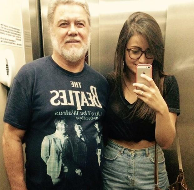 Mari Palma com o pai, Luiz (Foto: Reprodução/Instagram)