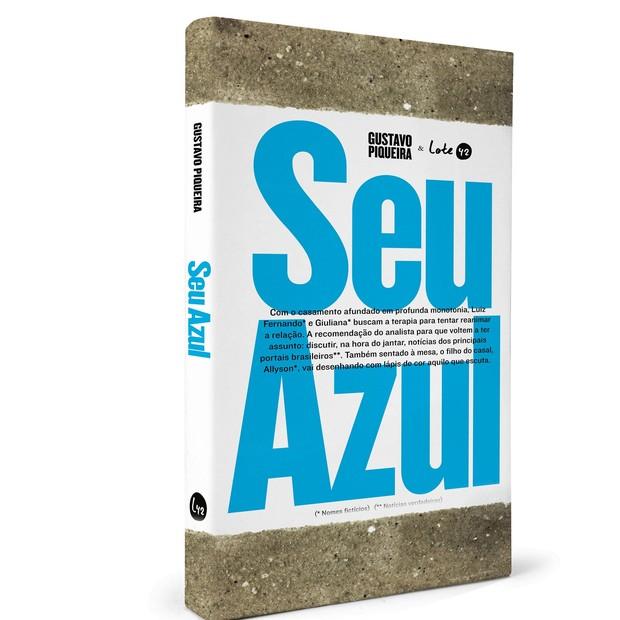 Capa de Seu Azul. A novela será lançada oficialmente na terça, dia 5  (Foto: Divulgação)