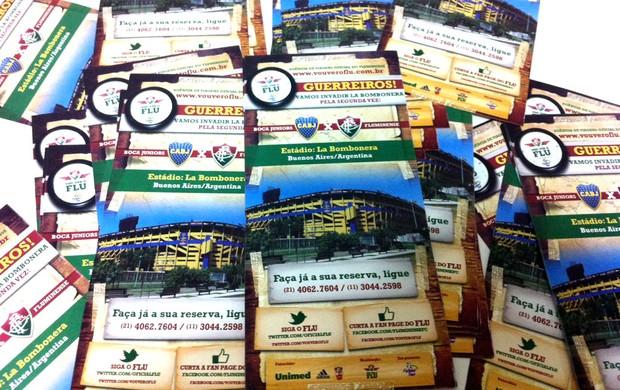 cartaz venda de ingressos fluminense e boca juniors (Foto: Divulgação)