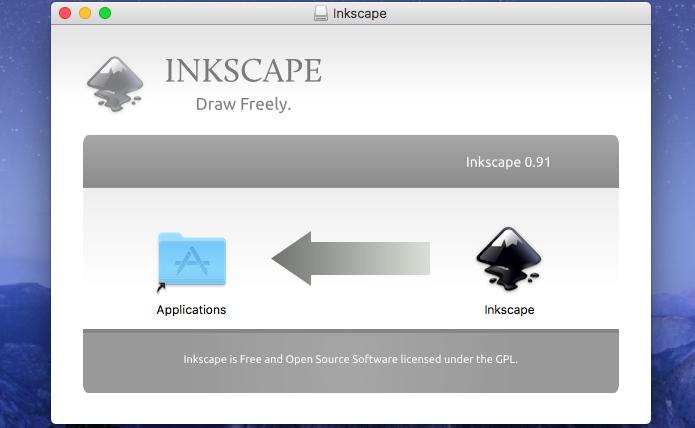 Instalando o Inkscape na pasta Aplicativos do OS X  (Foto: Reprodução/Edivaldo Brito)