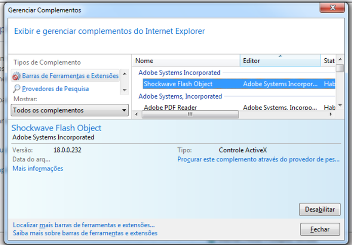Reconfiguração do browser ajuda na resolução do problema (Foto: Reprodução / Laura Martins)
