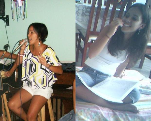 Ju Moraes em dois momentos na música: com 21 e 17 anos (Foto: Reprodução/Arquivo Pessoal)