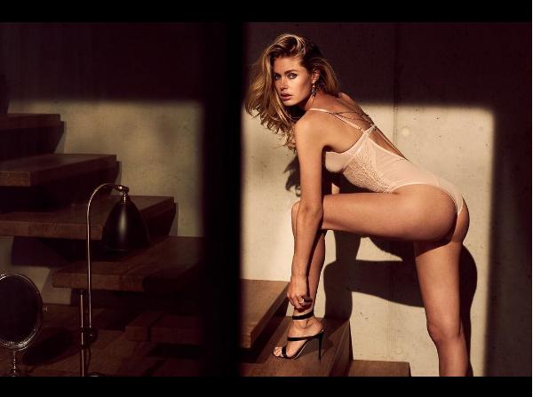 Doutzen Kroes em campanha para marca de lingerie (Foto: Reprodução/ Instagram)