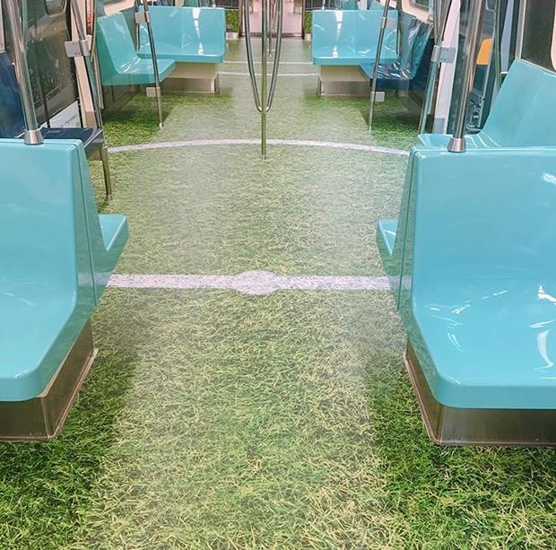 Metrô de Taiwan ganha piso inspirado em esportes olímpicos (Foto: Reprodução)