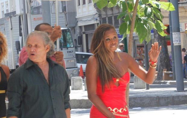"Roberta Rodrigues grava ""Salve Jorge"" (Foto: Onofre Veras / AgNews)"