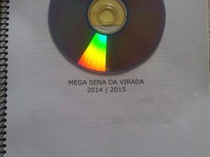 Apostila com números mega sena araxá (Foto: Arquivo Pessoasl)