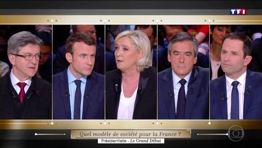 Debate na TV reúne principais candidatos à presidência da França