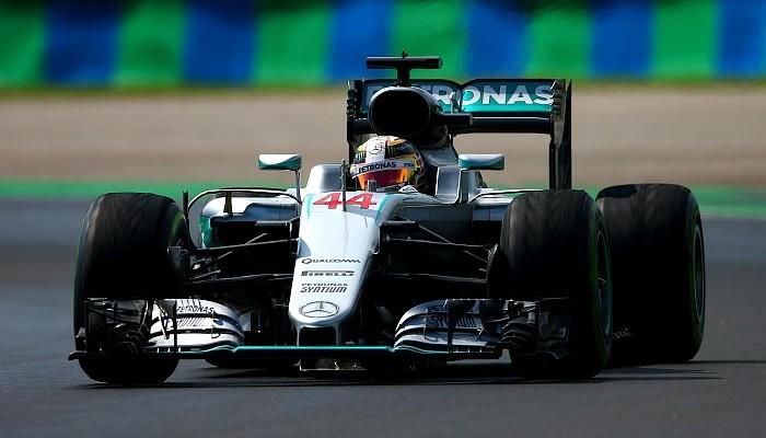 Lewis Hamilton no treino para o GP da Hungria