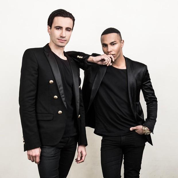 Sebastien Bertaud e Olivier Rousteing (Foto: Julien Benhamou/Reprodução)