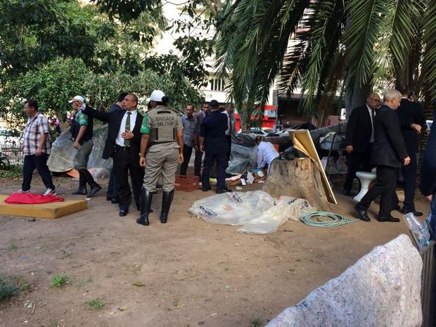 Crime aconteceu durante a tarde na Praça da Matriz, no Centro de Porto Alegre (Foto: Eduardo Costa, divulgação/Clic Camaquã)