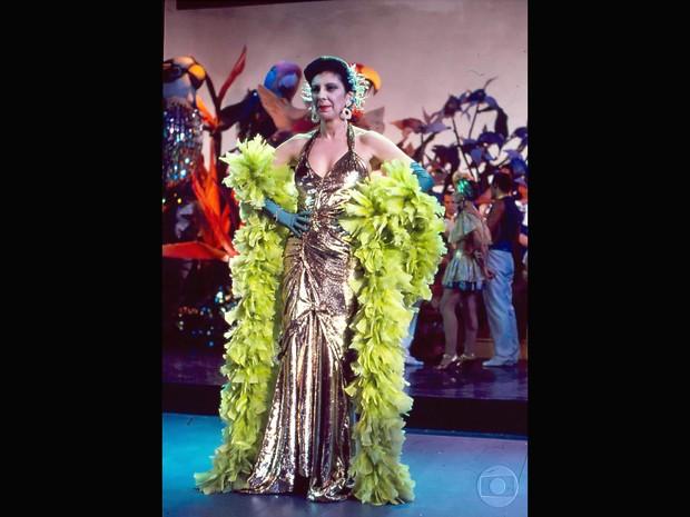 Marília Pêra em 'Rainha da Sucata' (Foto: Cedoc/TV Globo)