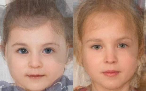 Aplicativo mostra como poderá ser o novo bebê do casal William e Kate, nas versões menino (esquerda) e menina (direita) (Foto: Reprodução/Morphy Thing)