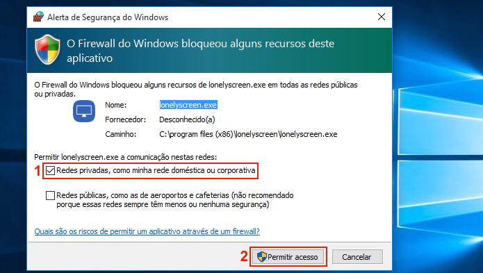 Desbloqueando o programa no Firewall do Windows (Foto: Reprodução/Edivaldo Brito)