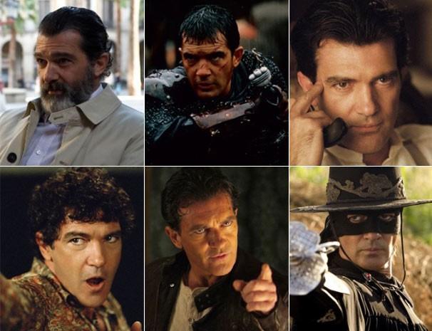 Antonio Banderas estrelou: 'A Toda Prova', 'O 13º Guerreiro', 'Pecado Original', 'Shrek 2', 'Jogo Entre Ladrões' e 'A Lenda do Zorro' (Foto: Divulgação / Reprodução)