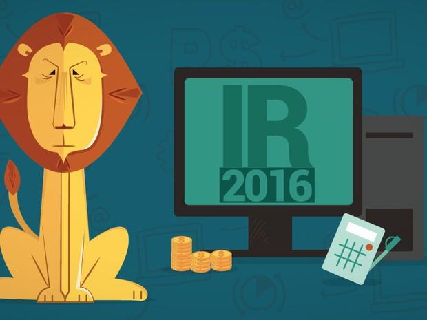 selo imposto de renda 2016 IR (Foto: Editoria de Arte/G1)