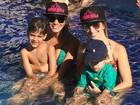 Filhos de Cristiano Araújo passam o final de semana com o avô