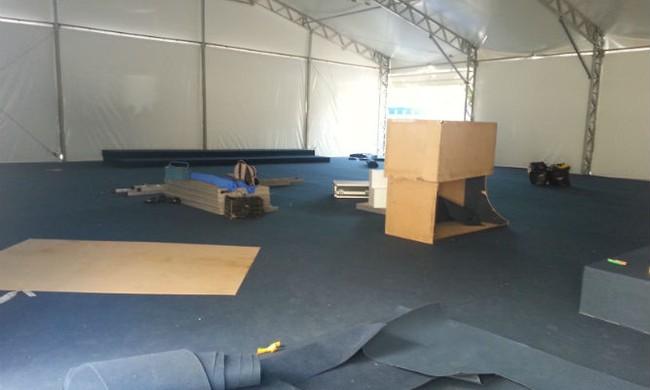 Sala imprensa estádio do Morumbi (Foto: Carlos Augusto Ferrari)