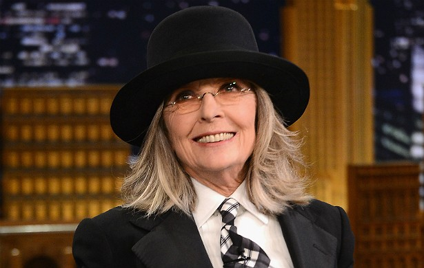 """Aos 68 anos, Diane Keaton já """"pegou"""" homens do porte de Woody Allen e Al Pacino. Nunca se casou. (Foto: Getty Images)"""