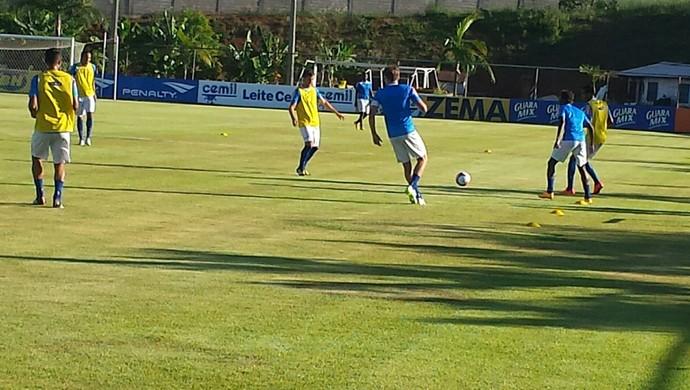 Treino do Cruzeiro nesta segunda (Foto: Marco Astoni)