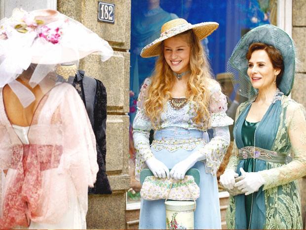 Até Margarida cai no encanto da ex-baronesa (Foto: Lado a Lado / TV Globo)