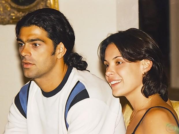 Milena (Carolina Ferraz) e Nando (Eduardo Moscovis) em Por Amor.